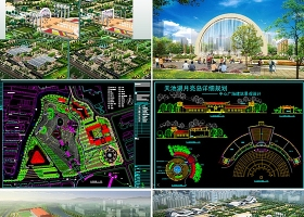 原创80个公园景观园林设计CAD-版权可商用