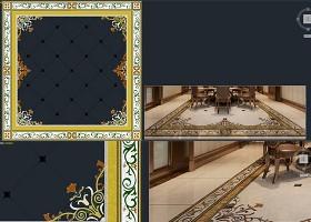 原创大理石水刀拼花图案源文件中式法式欧式花纹