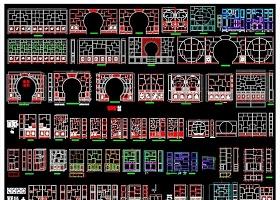 原创中式古典风格博古柜多宝格CAD图库大全