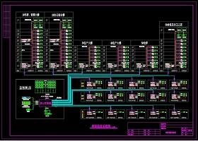 原创网络监控系统图模板CAD弱电智能化(大型工厂)-版权可商用