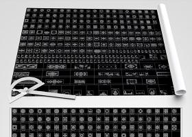 原创新款水刀拼花CAD水刀背景墙CAD腰线CAD-版权可商用
