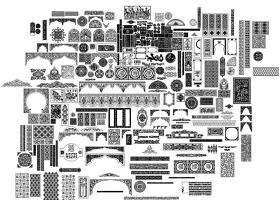 原創中式雕花CAD圖庫大全-版權可商用
