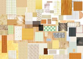 原创高清室内70款地面材质PSD分层户型图块-版权可商用