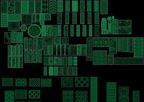 原创全套中式雕花CAD模块图库