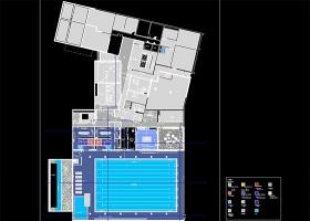 原创健身房CAD装修图