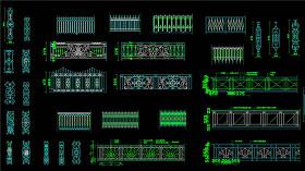 原创铁艺栏杆CAD设计图纸