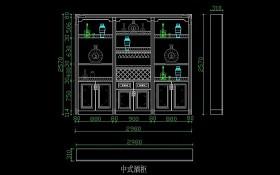 原创新中式酒柜设计模板-版权可商用