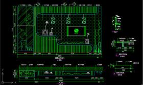 原创电视背景墙客厅电视墙CAD施工图