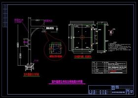 原创室外监控立杆及弱电箱安装大样图CAD弱电-版权可商用