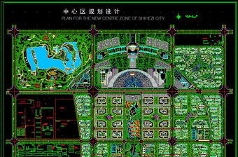 原创城市中心区规划CAD图纸