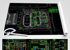 原创全套教学楼CAD弱电系统施工图-版权可商用