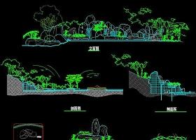 原创景观CAD假山图纸园林公园假山-版权可商用