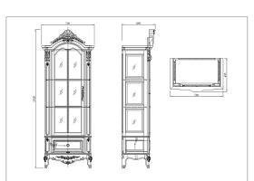 原创经典美式单门酒柜双门酒柜CAD文件