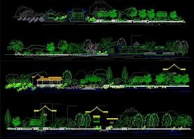 原创生态水岸改造立面图CAD图纸-版权可商用