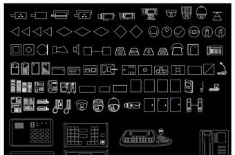全套安防监控设备CAD图库
