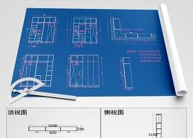 原創全屋定制酒柜書柜鞋柜衣柜CAD圖庫-版權可商用