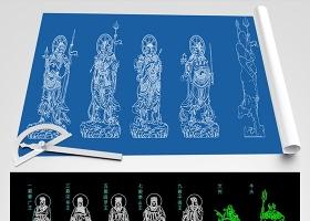 原创佛像观音和尚莲花宝座CAD图库大全-版权可商用