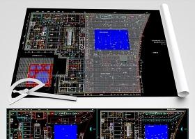 原创面包店CAD全套平面装修图-版权可商用
