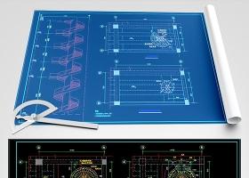 原创CAD?#32440;?#26500;旋转楼梯结构图纸-版权可商用