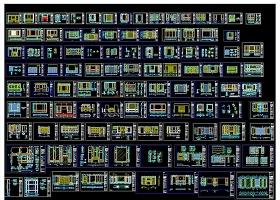 原创整木定制护墙板背景墙CAD图库-版权可商用
