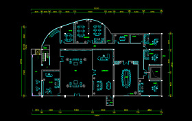 原創扇形辦公樓辦公室平面布置圖