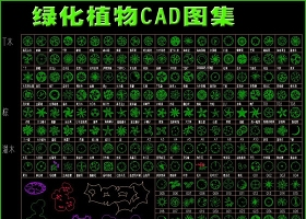 原創園林綠化植物CAD圖集-版權可商用