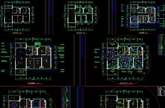 CAD全套家装施工图纸平面图室内装修家装