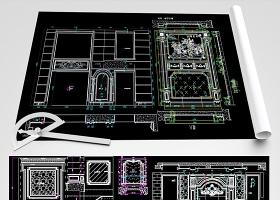 原创新版大理石背景墙CAD图库-版权可商用
