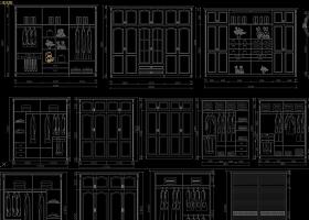 欧式法式美式酒柜衣柜橱柜鞋柜整木定制