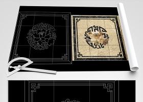 原创中式水刀拼花CAD-版权可商用