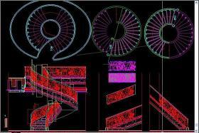 原创旋转楼梯CAD-版权可商用