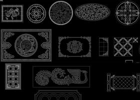 原创CAD中式地面拼花图集水刀拼花雕刻花纹-版权可商用