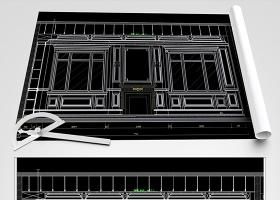 原创新中式护墙板CAD新中式吊顶CAD-版权可商用