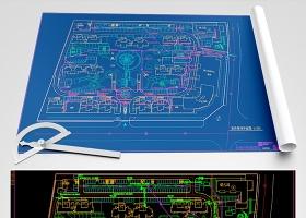 原创小区室外弱电总平面图CAD弱电智能化-版权可商用