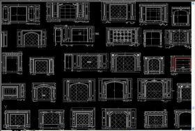 原创大理石电视机背景墙CAD-版权可商用