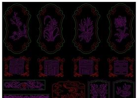 原创新中式花格挂落及绘图素材CAD图库-版权可商用