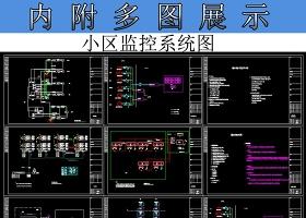原创小区监控CAD系统设计图