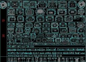 原创建筑装修CAD图库模板