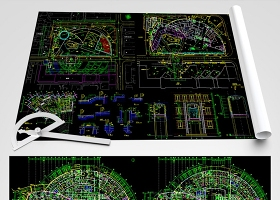 原創中山醫院CAD全套平面裝修圖
