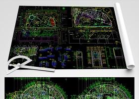 原创中山医院CAD全套平面装修图