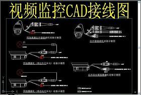 原创视频监控CAD接线图