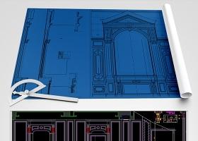 原创欧式别墅CAD石材展厅CAD-版权可商用