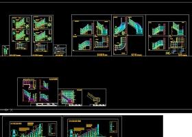 原创常见整木楼梯设计画法CAD-版权可商用