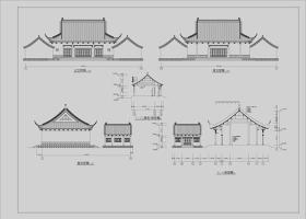 原创2018精选中式仿古建筑四合院民居住宅古建CAD施工图纸-版权可商用