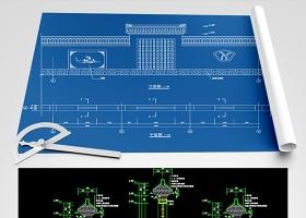 原创古建围墙施工CAD图纸-版权可商用