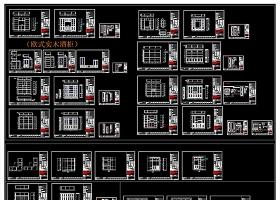 欧式酒柜衣柜电视柜墙板CAD图库