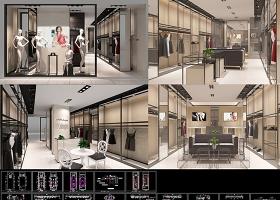 原创时尚女装店CAD施工图3DMAX-版权可商用