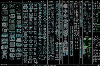 CAD家居用品图库cad平面图库