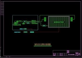 原創LED大屏系統圖CAD弱電智能化-版權可商用