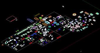 原创办公家具CAD立面图平面图库素材